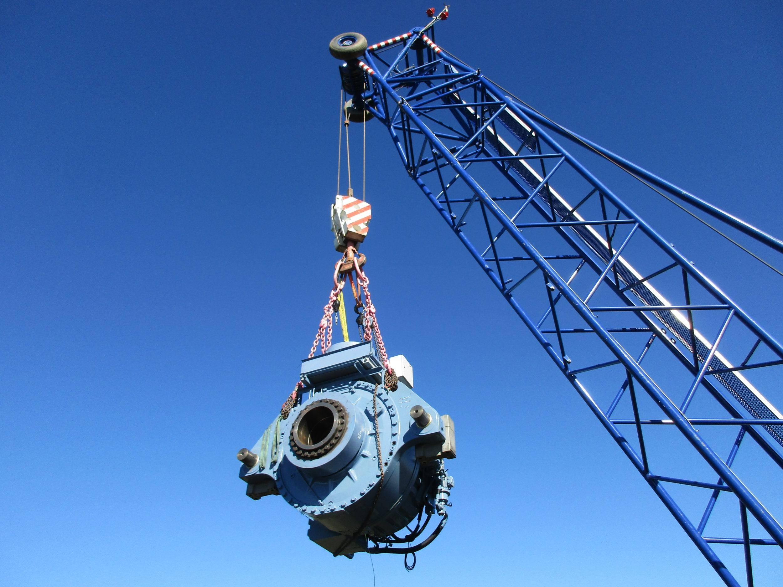 Moventas wind turbine gearbox up-tower