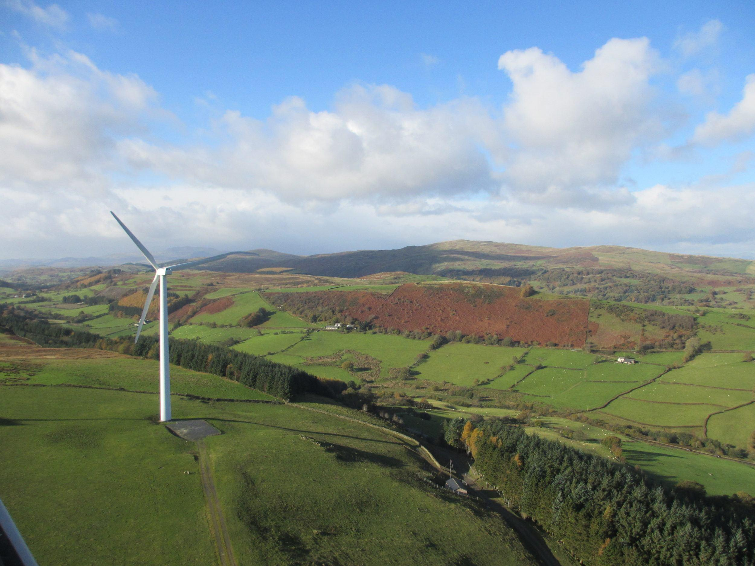 Wind turbine farm service agreement